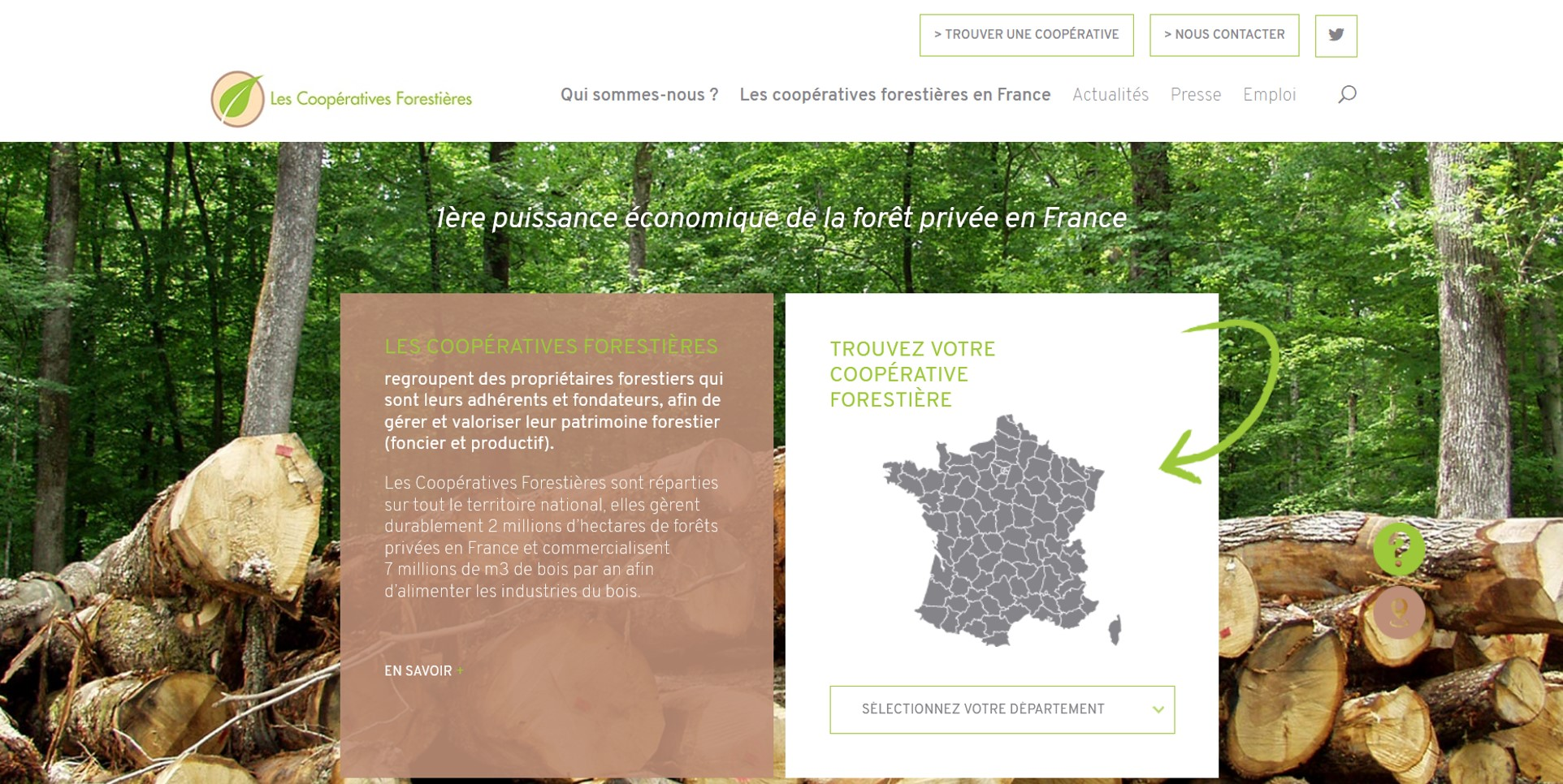 Site internet des cooperatives forestieres
